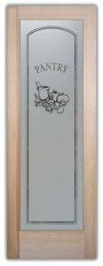 Sans Soucie Pantry Door with Frosted Glass