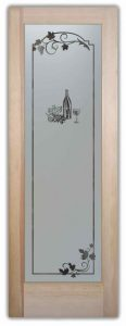 Pantry Door Glass Etching wine and grapes by Sans Soucie