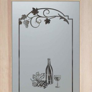 Pantry Door Etched Glass grapes by Sans Soucie
