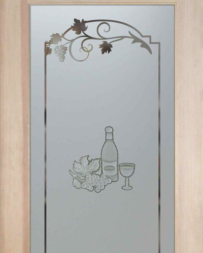 pantry doors frosted glass pantry door carved wine bottle glass grapes