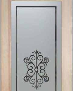 Sans Soucie Pantry Doors with Solid Frosted Glass