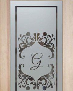 etched glass kitchen pantry door glass pantry doors monogrammed
