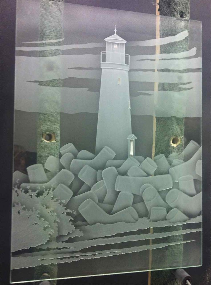 Sans Soucie Door Inserts Carved Glass Beach Coastal & Lighthouse Glass Door Inserts Sans Soucie Pezcame.Com