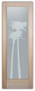 interior glass doors frosted glass tropical decor wooden trees bark palms gleaming sans soucie
