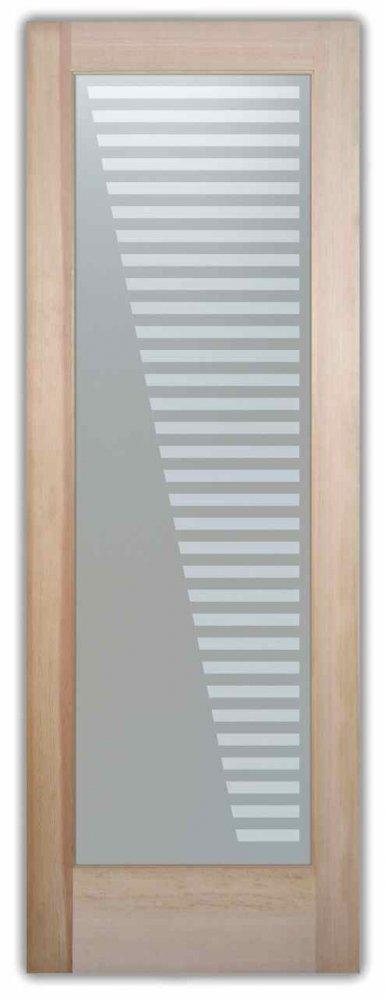 interior glass doors etching glass modern decor cascading lines sleek bands sans soucie