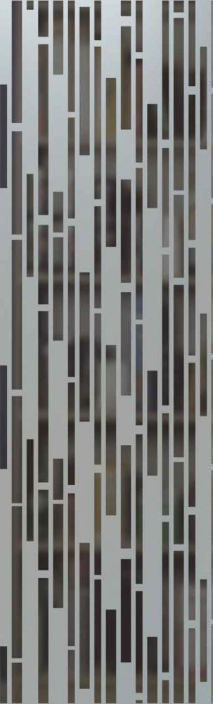 glass doors insert panels etched frosted vertical bands