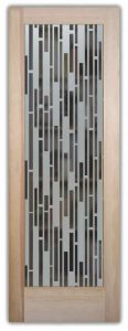 Mosaics vertical etched glass doors frosted glass doors