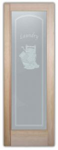 Laundry Room Door with Frosted Glass wringer by Sans Soucie