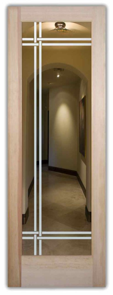 interior doors with glass etching etched glass traditional decor frosted lines bands sans soucie