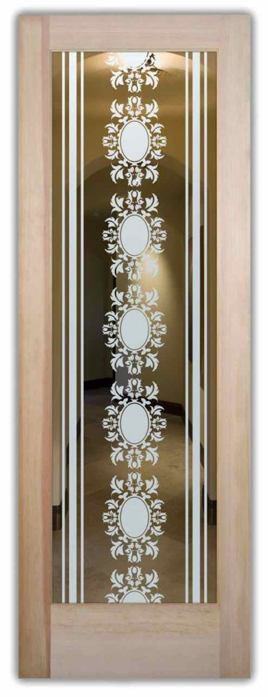 interior doors with glass etching sandblasted glass Victorian style lacy ornate patterns arabella l sans soucie