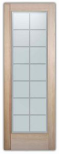 interior glass doors sandblasted glass traditional design geometric patterns cubes panes sans soucie