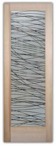 door glass decorative frosted lines overlapping