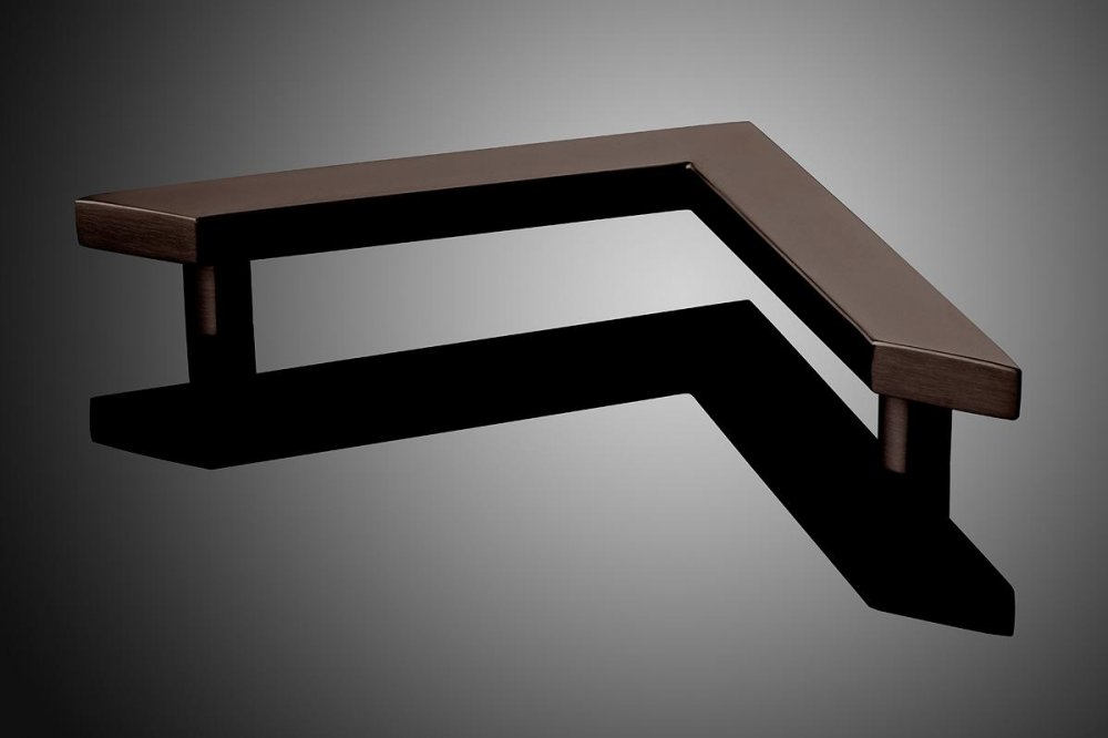 """HDREC2041 shown in Oil-Rubbed Bronze (US10B).Grip cross section: 1"""" x 2"""" Size: 14"""""""