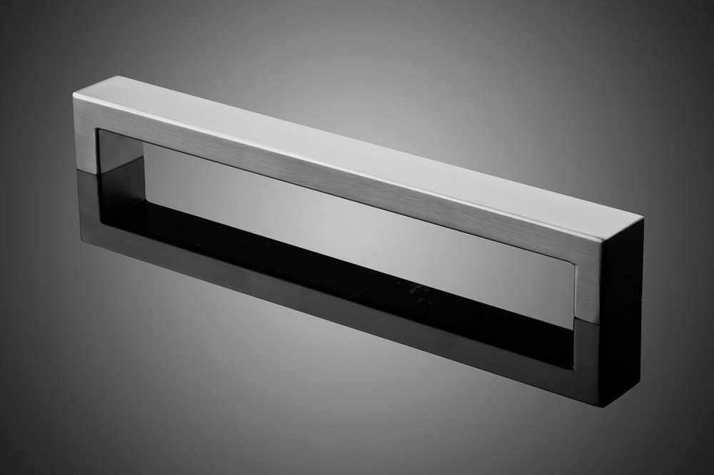"""HDREC2011 shown in Satin Stainless Steel (US32D).Grip cross section: 1"""" x 2"""" Size range: 9"""" - 91"""""""