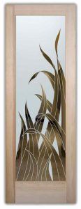 glass doors etched glass leaves wispy foliage tropical decor sans soucie reeds