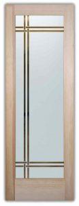 modern entry doors custom glass sleek lines understated modern design sans soucie bands