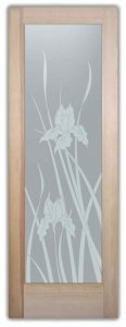 interior glass doors glass etching english country decor flowers blossoms iris sans soucie
