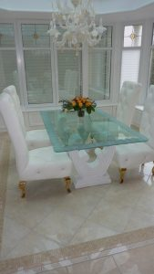 Sans Soucie Dining Tables Glass Carving Rustic Beach