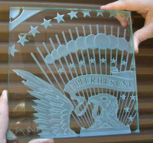 Sample Signs with Carved Glass U.S. Presidential Seal Sans Soucie