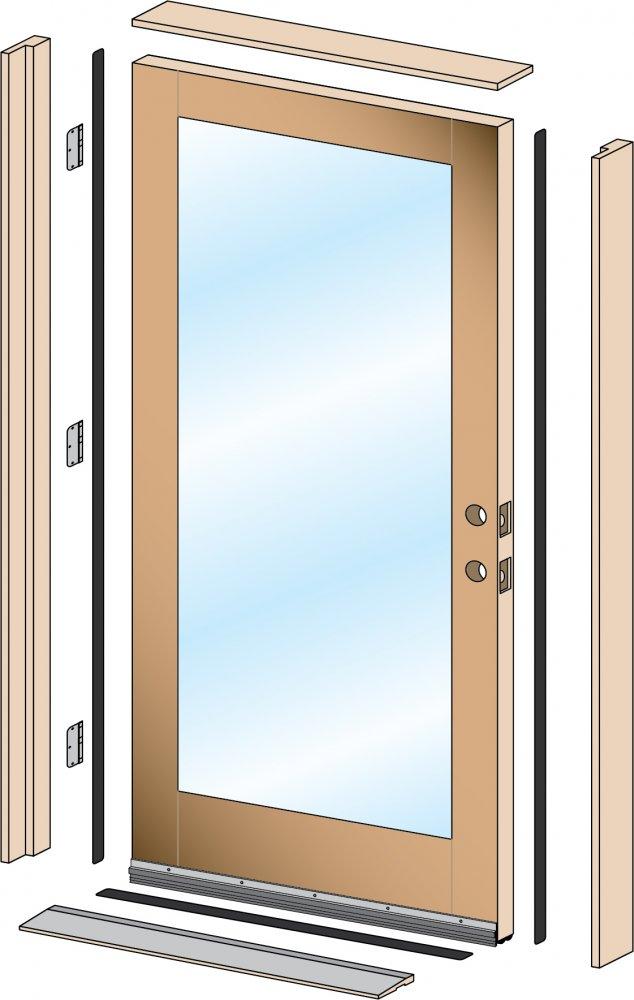 Single Hung Doors : Pre hung exterior door single