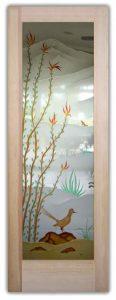 Glass Front Doors Etched Frosted Glass Door Ocotillo Roadrunner