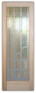 Interior Glass Doors Etched Glass Art Deco Style Traditional Decor