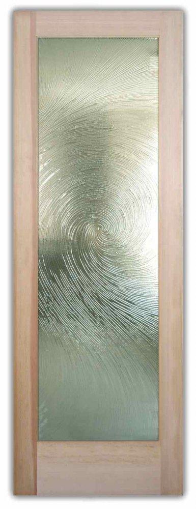 Glass Front Entry Doors Cast Textured Slump Glass Swirls