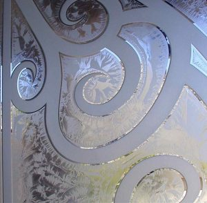 Front Doors with Frosted and Gluechipped Glass Tuscan Decor by Sans Soucie