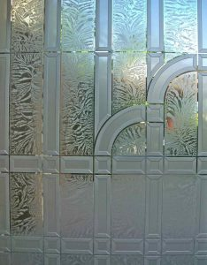 Etched Glass Art Deco Style Traditional Decor