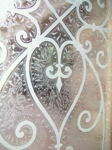 Carved Glass Tuscan Decor Wrought Iron Mediterranean