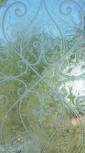 Frosted Glass Tuscan Decor Wrought Iron Mediterranean
