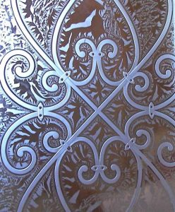 Etched Glass Tuscan Decor Wrought Iron Mediterranean