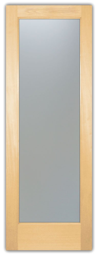 Door Maple Frame French Etched Glass by Sans Soucie