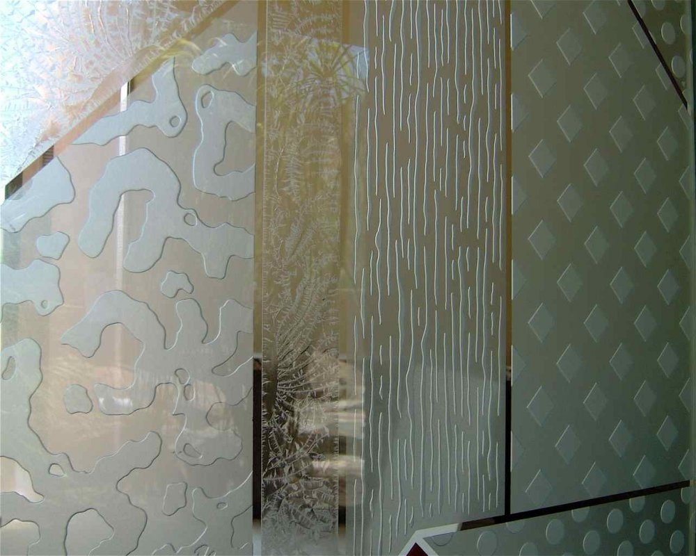 Frosted Glass Designs Matrix 3d Iii Etched Glass Doors Modern Design Style