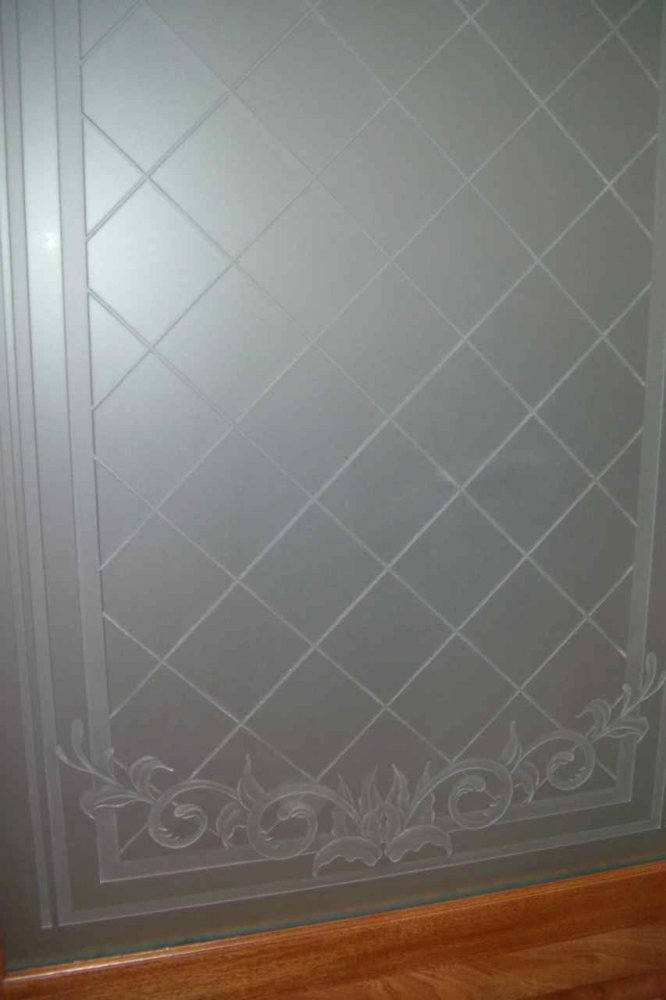 Filigree Lattice 3d Private Etched Glass Doors Victorian Style