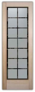 frosted glass doors etched squares pantry door