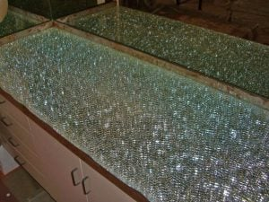 Counter Top Shattered Clear Glass by Sans Soucie