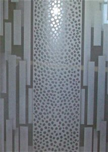 Glass Door Inserts Carved and Etched African cheetah by Sans Soucie