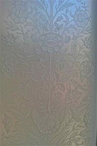 Etched Glass French Style Floral Perch English Country Decor