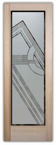Etched Glass Contemporary Doors Frosted Geometric Shapes