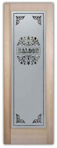 Etched Glass Saloon Door Design Frosted Glass Doors