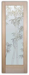 Front Doors with Glass Bamboo Asian decor bamboo stalks