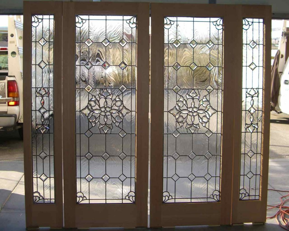 Front Doors double front doors with glass photos : Beautiful Bevels Stained Glass Doors by Sans Soucie