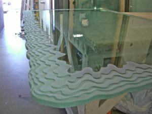 Dining Tables Glass Carving Rustic Beach by Sans Soucie