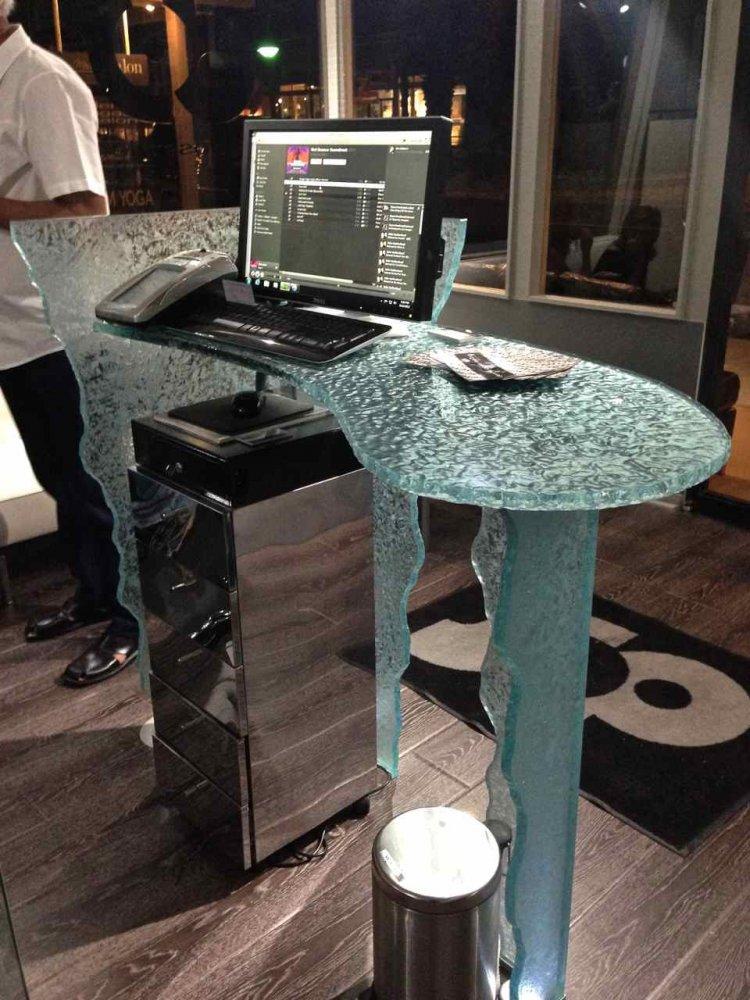 Glass Reception Desk Custom Glass Counter Top