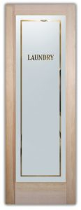 Sans Soucie Laundry Room Doors with Glass Etching Classic