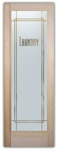 Laundry Room Door with Frosted Glass by Sans Soucie