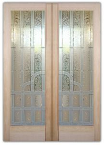 Glass Front Doors Etched Glass Art Deco Style Traditional Decor