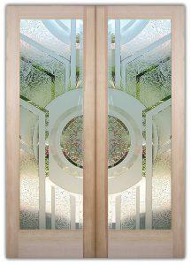 Front Doors Etched Glass Modern Sans Soucie