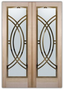 double entry doors etched glass linear design art deco design sans soucie arcs ll